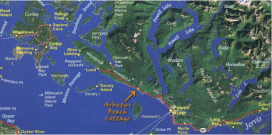 The Sunshine Coast Trail Has A Superb View Of The City Of Powell River And Nearby Islands Like